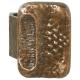 Bronze Stoßgriff mit Griffplatte 3300.B3
