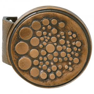 Bronze Stoßgriff mit Griffplatte 5300.B3