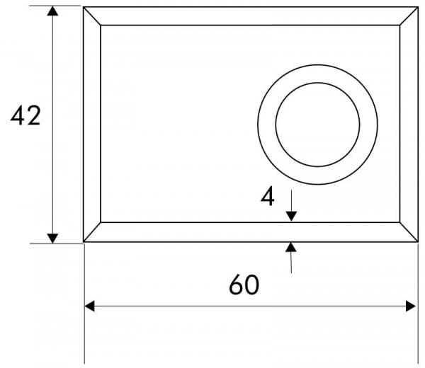 Designmitrenas PZ-Kratzschutzrosette Orthogon-Maße