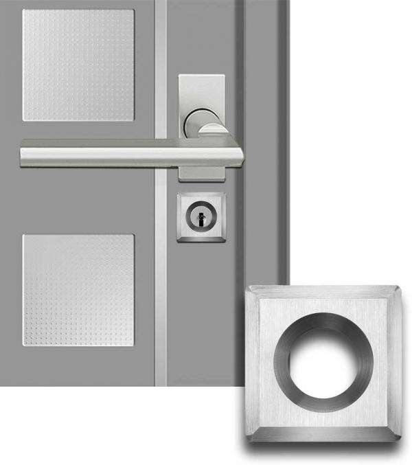 Designmitrenas PZ-Kratzschutzrosette Tetragono