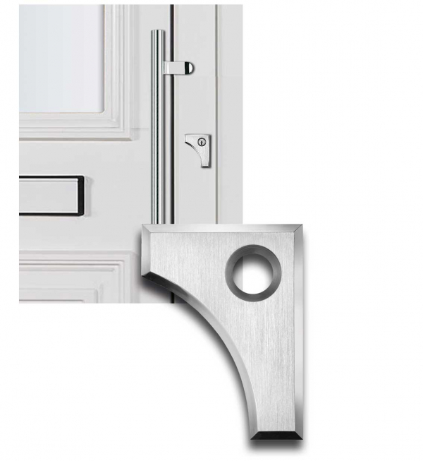 Designmitrenas PZ-Kratzschutzrosette Thessalia linksweisend