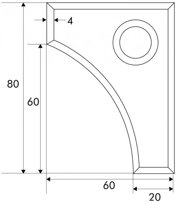Designmitrenas PZ-Kratzschutzrosette Thessalia_Maße